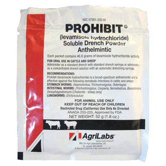 PROHIBIT SOLUBLE DRENCH POWDER ANTHELMINTIC 52 GM