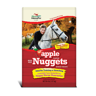 MANNA PRO BITE SIZE APPLE HORSE NUGGETS TREATS 4 LB
