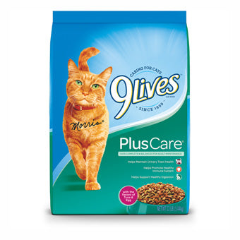 9LIVES PLUS CARE CAT FOOD TUNA & EGG FLAVOR 12 LB