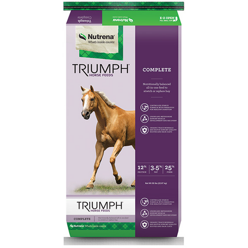 TRIUMPH COMPLETE PELLETED HORSE FEED 50 LB