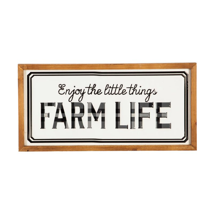 Enjoy the Little Things Farm Life Metal and Wood Wall