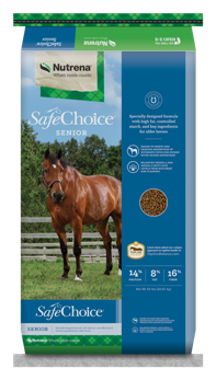 Nutrena SafeChoice Senior Horse Feed, 50 lb.