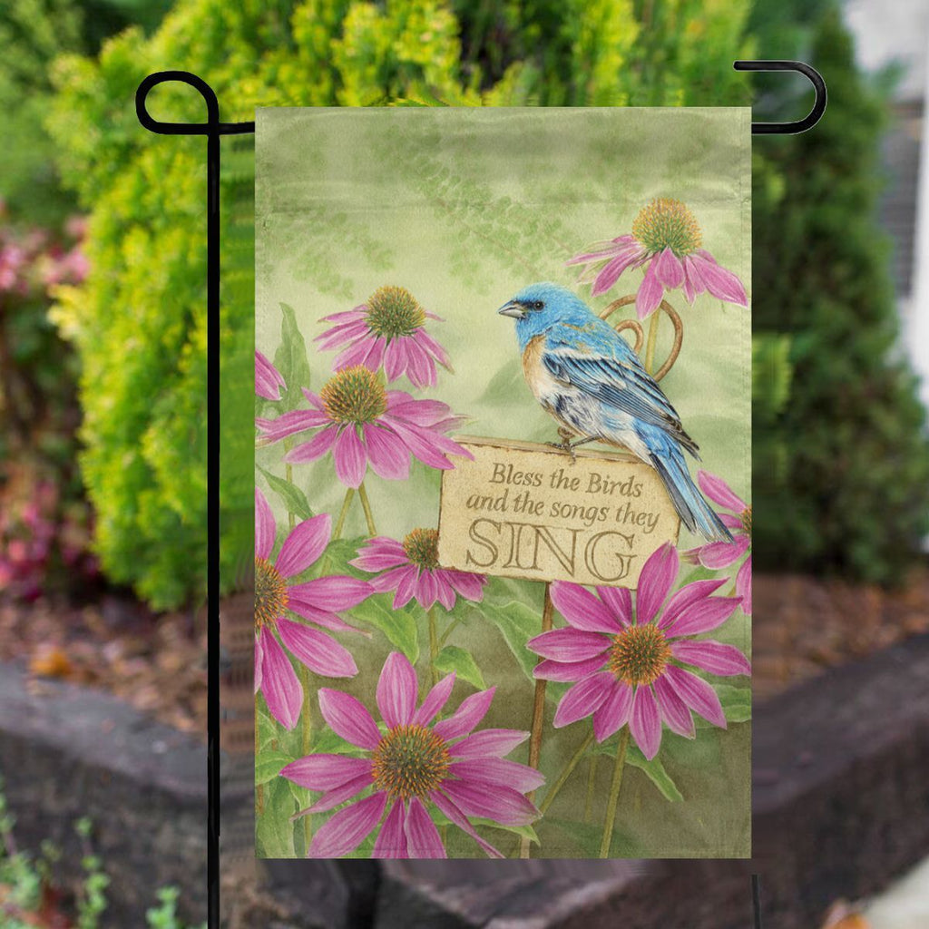 Bless the Birds Spring House Flag No.6WPV3T