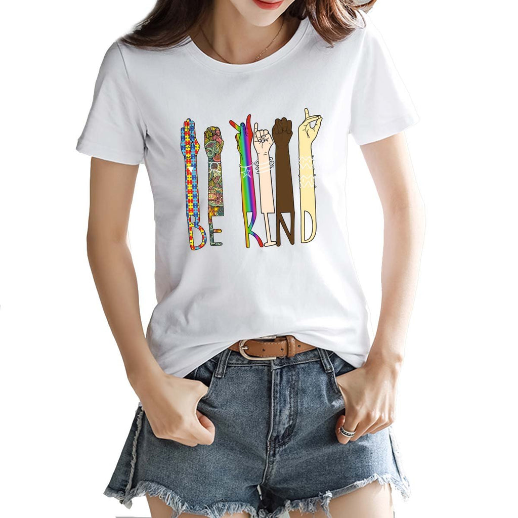 Women's T-Shirt Be Kind Hand