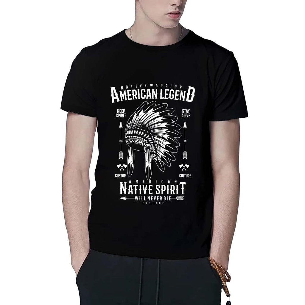 Men T-Shirt Native Warrior