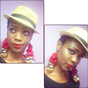 Unique Ankara Prints ruffles earrings