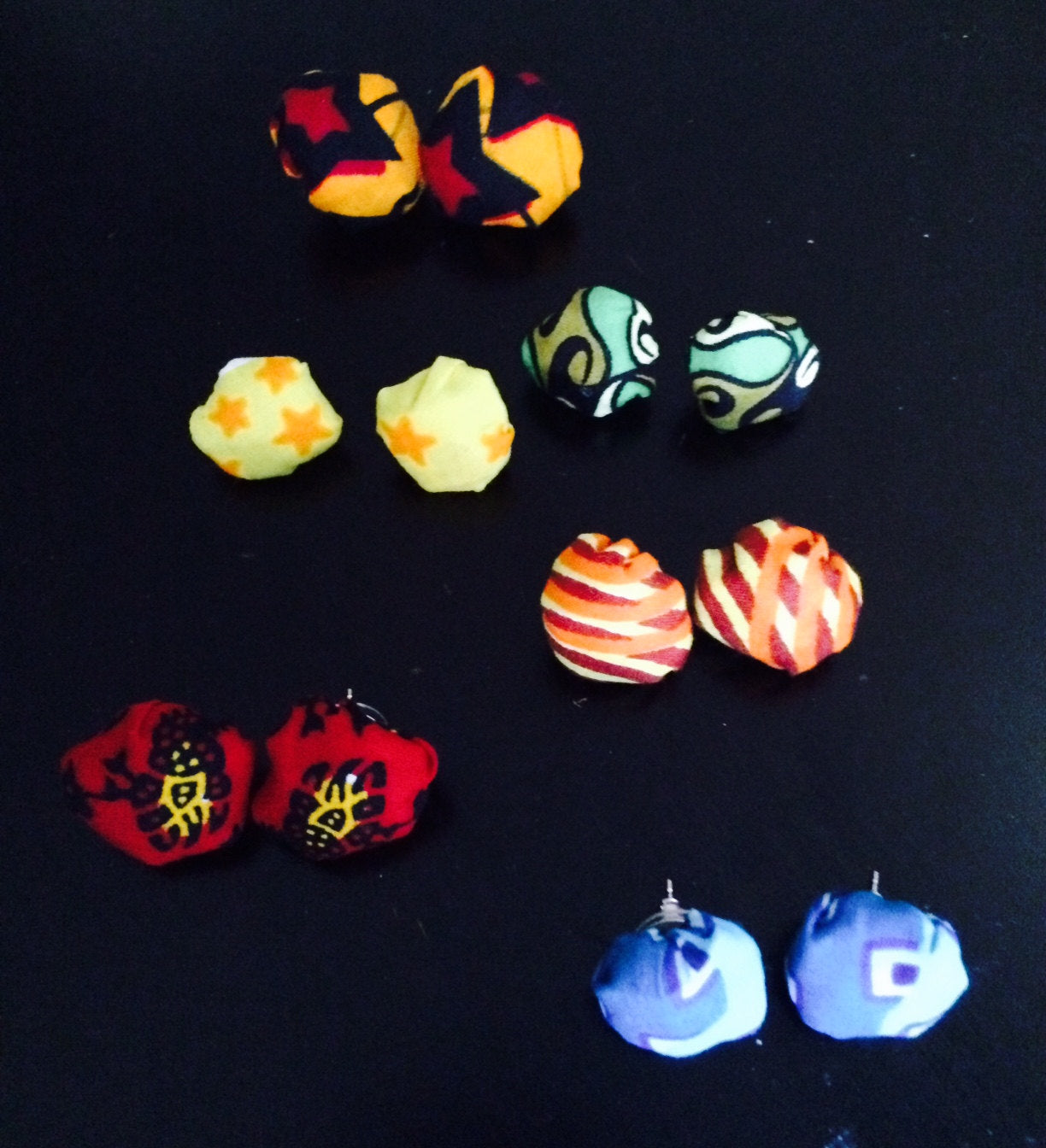 African Ankara Stud earrings!