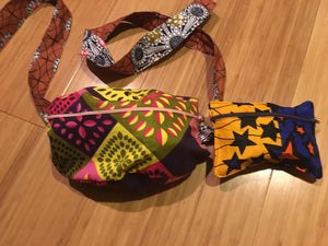 Lovely 'Oremeji' Multi prints Ankara fanny pack, fanny pack, Ethnic fabrics, 100% cotton, Ankara fanny pack, patchwork