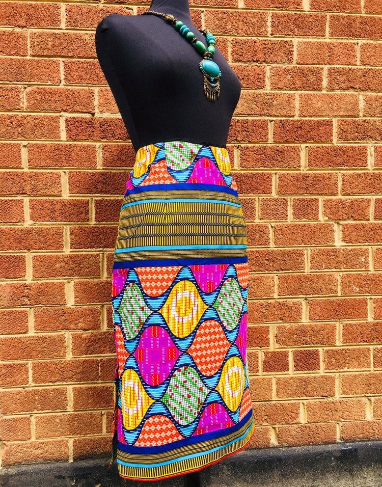Adina African midi pencil skirt, pencil skirt, 100% cotton