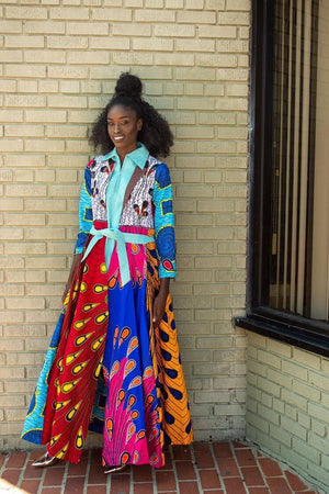 SpiceAngel ankara duster, 100% cotton, patches, duster