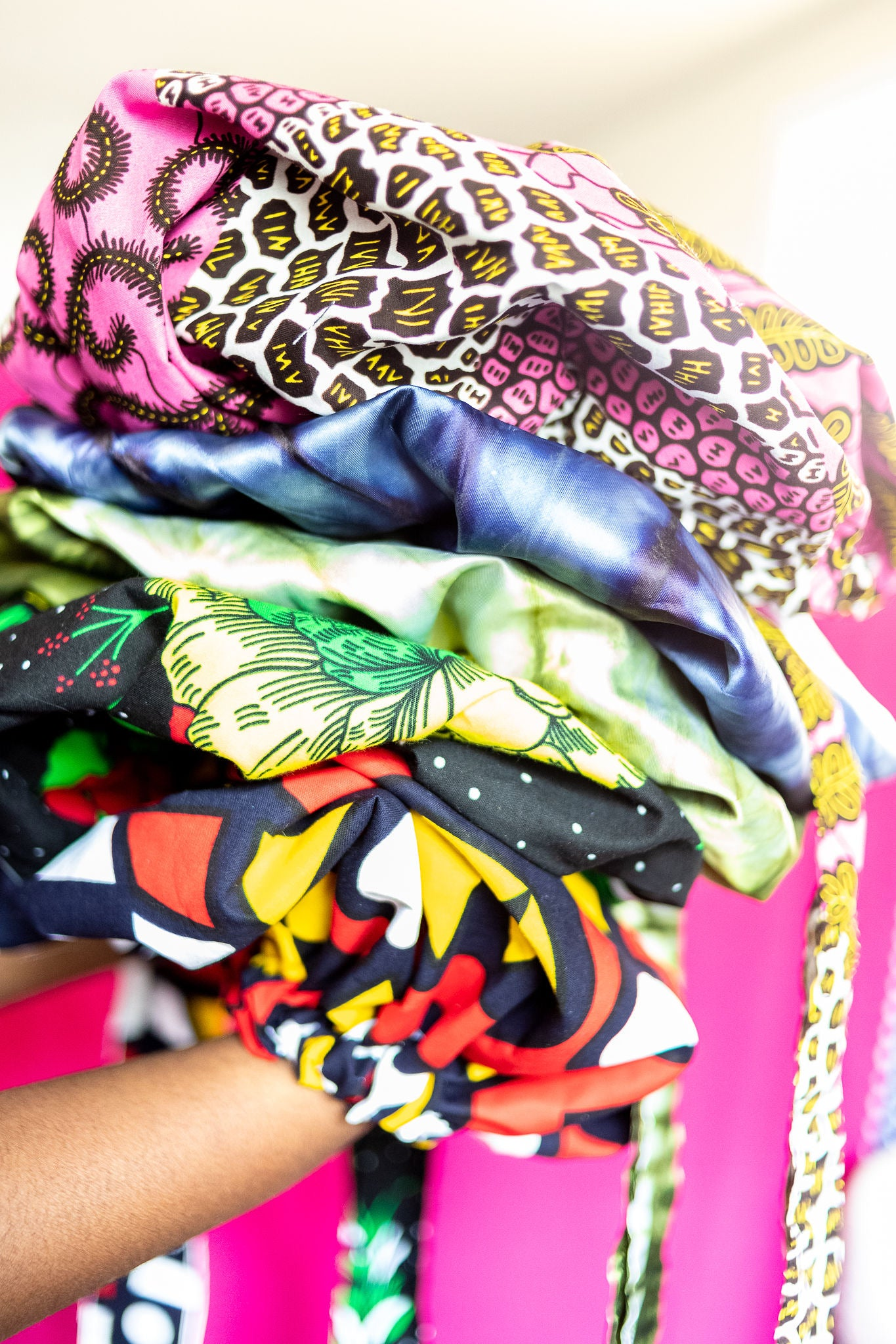 Adaobi Bonnet Batik print, Ankara fabric, 100% Cotton