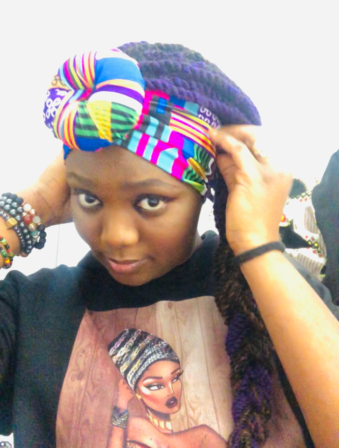 Nubian Queen knot Headband