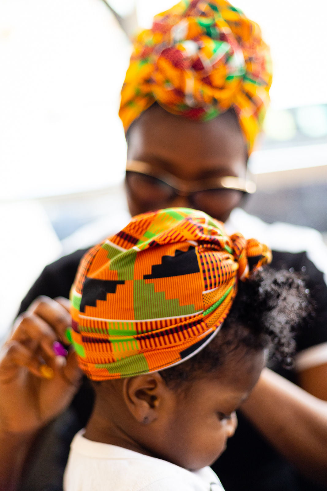 Zizi Kente baby headwrap/turban, kente print, African fabric