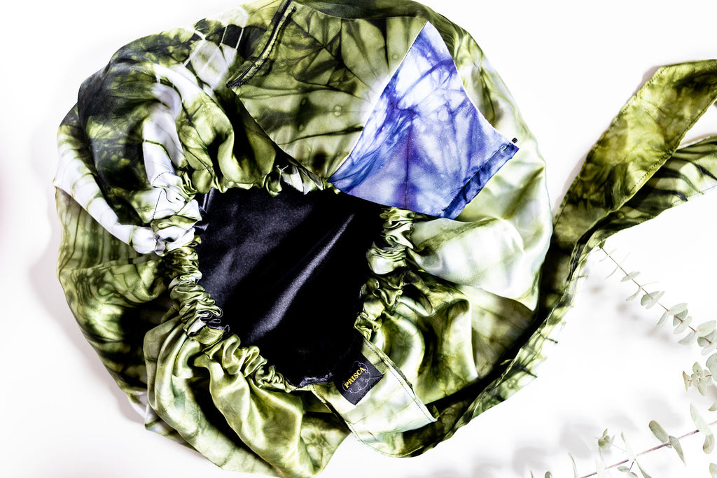 Adaobi Satin Bonnet, Batik Satin print, batik, 100% Cotton