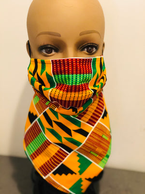 Adrinka Kente Bandana mask
