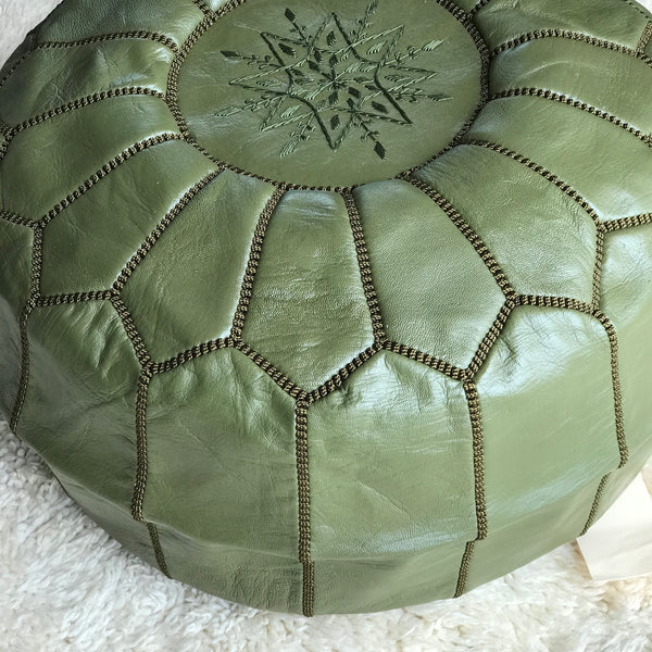 Leather Pouffes