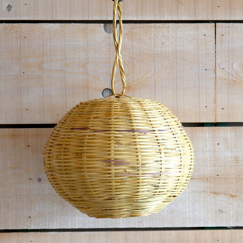 'Ball of Light' wicker lampshade.