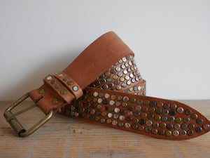Tan 5 Stud Belt
