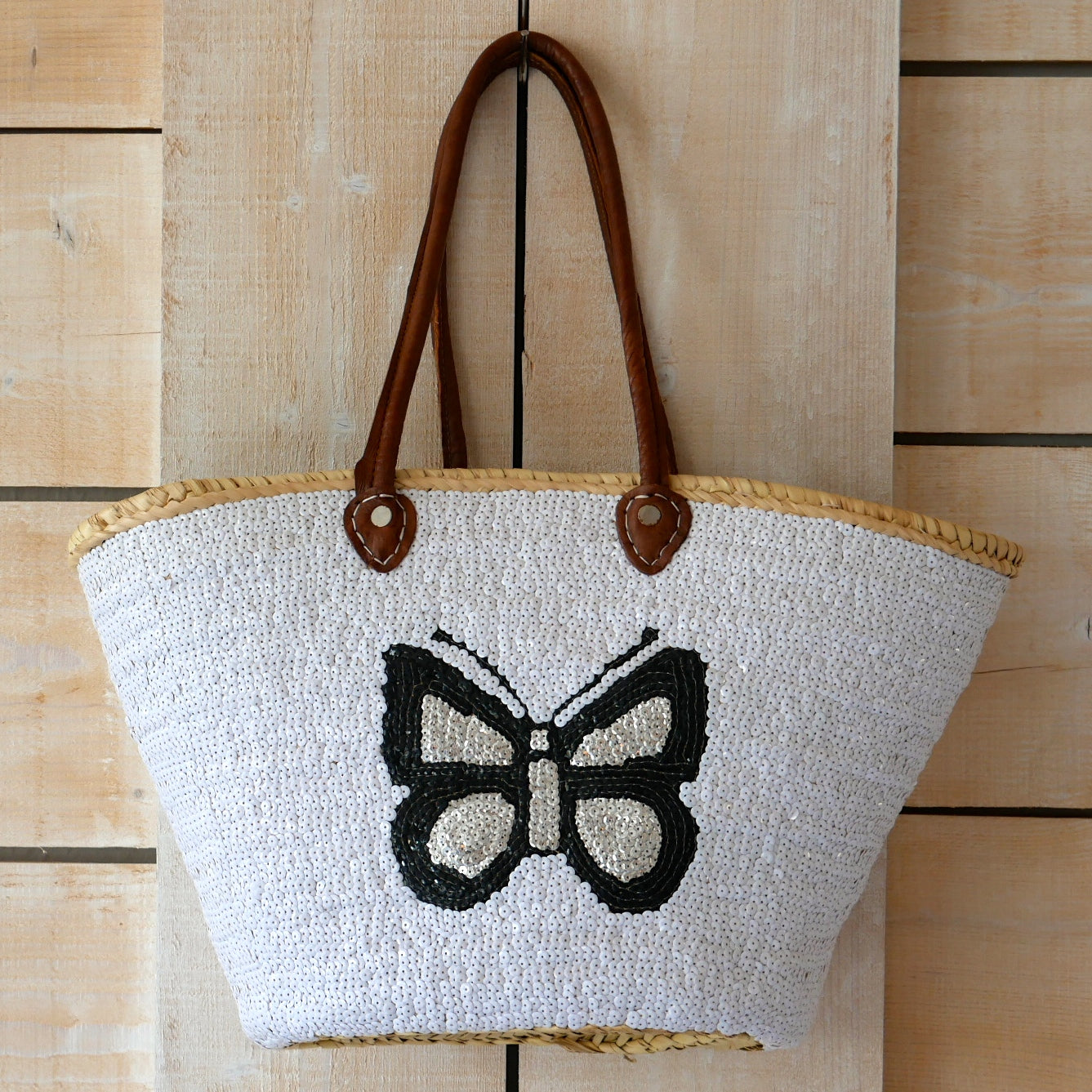 Butterfly Sequin Basket