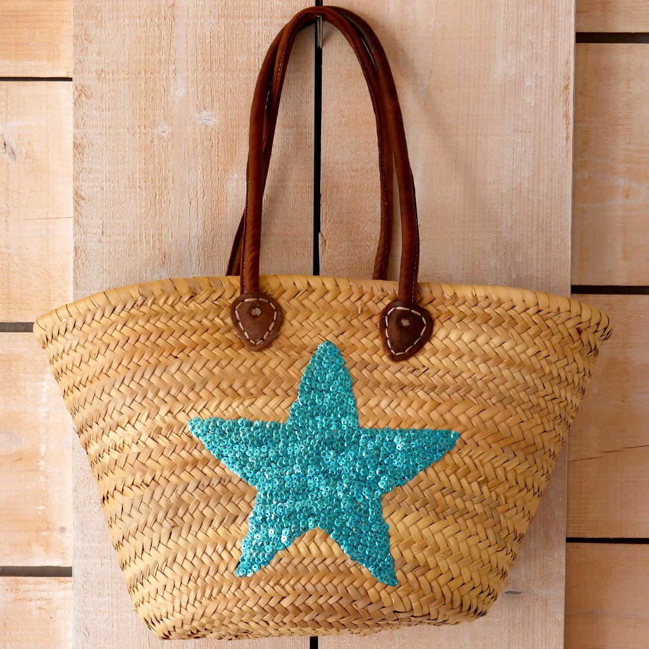 Star Sequin Basket