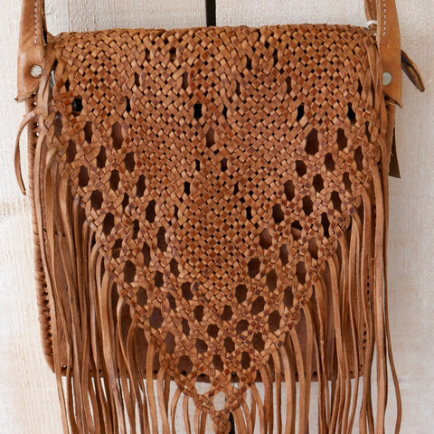 Leather Tassel Boho Bag
