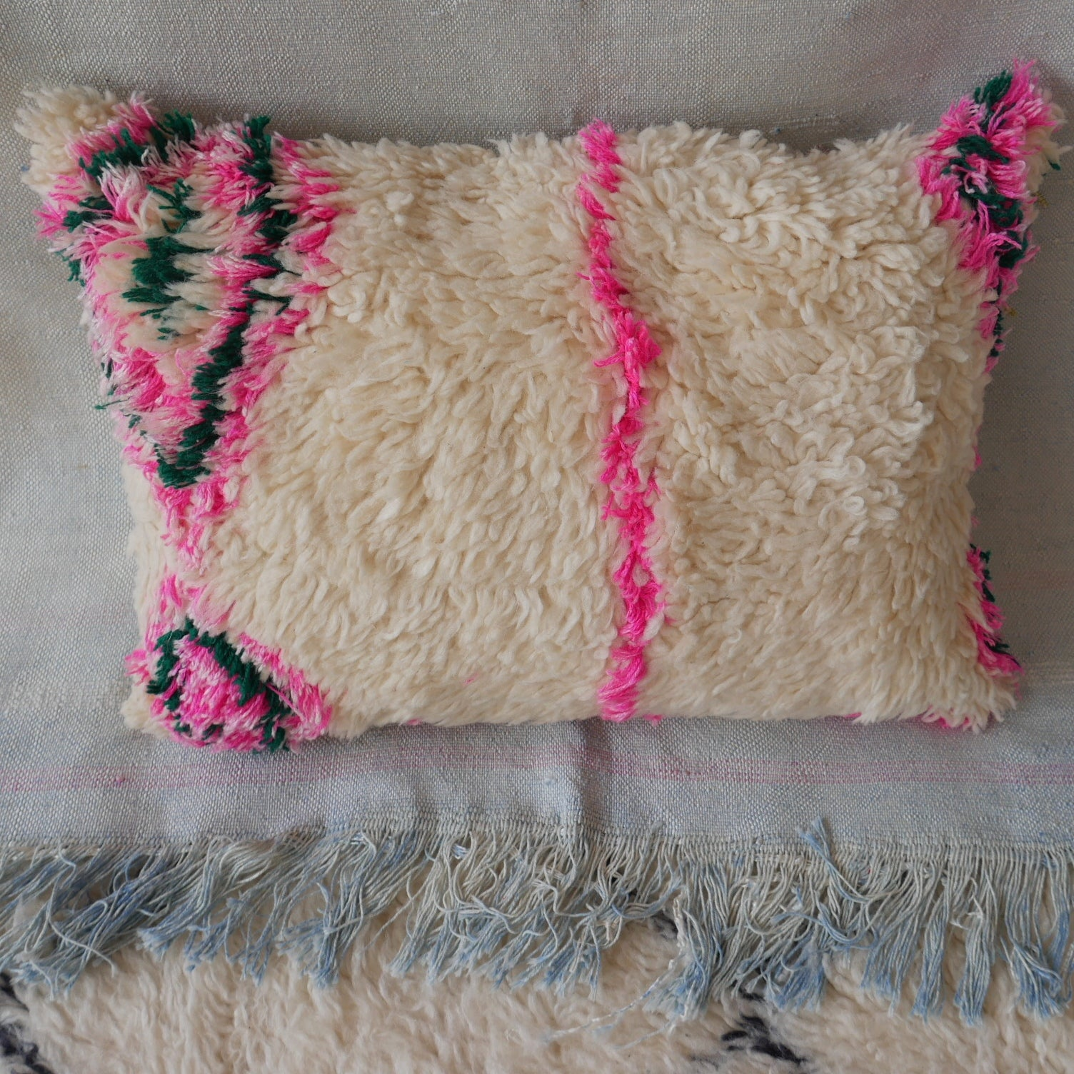 Pink Flash Cushion