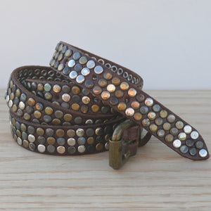 Brown 3 Stud Belt