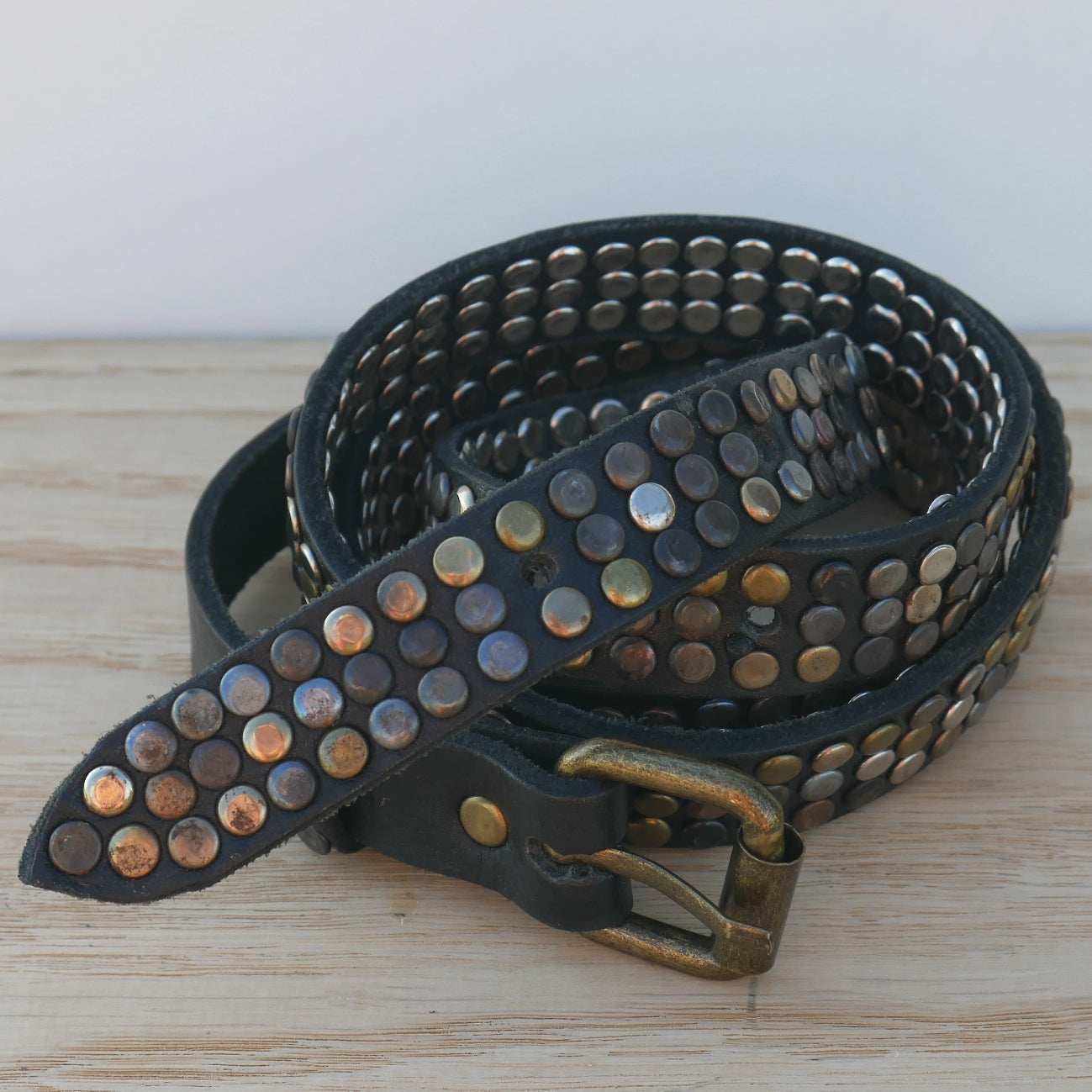 Black 3 Stud Belt