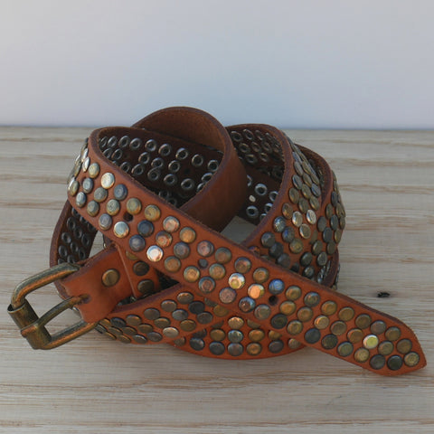 Tan 3 Stud Belt