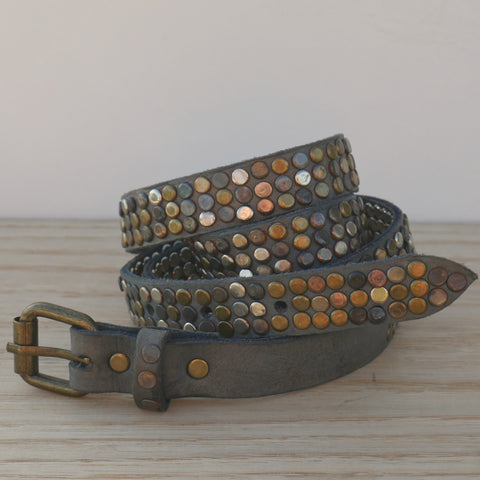 Grey 3 Stud Belt