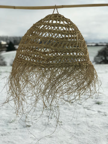 'Fisherman's Basket' style wicker lampshade.