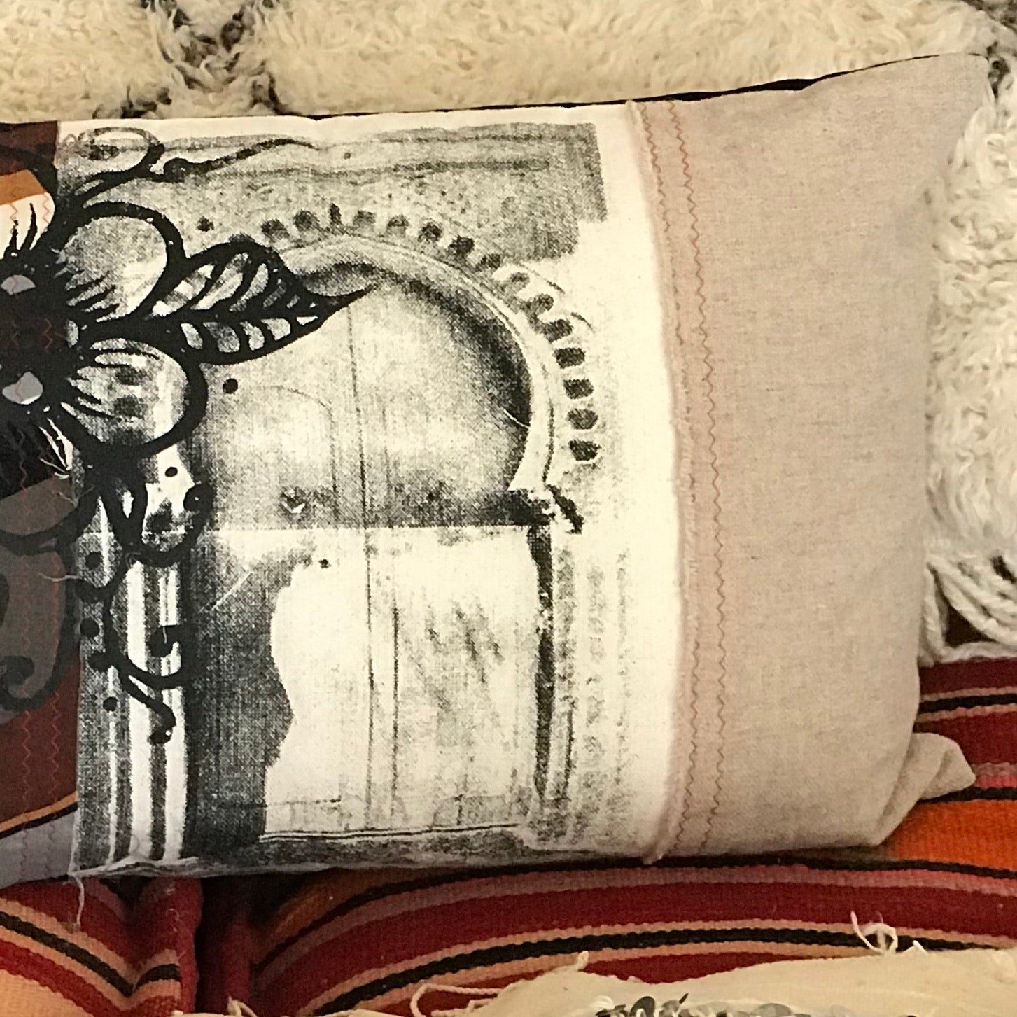 'Door to a garden' Art Cushion