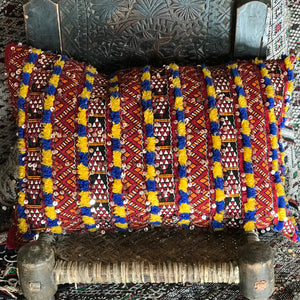 'Saffron Highlights' Kilim Cushion