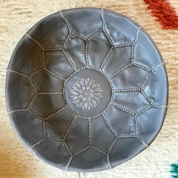 Mini Leather Pouffe