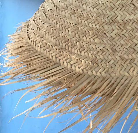 'Palmerie' Large Palm Leaf Wicker Lampshade