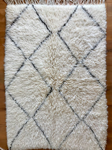 'Parallel Movement' Small Beni Ourain Rug