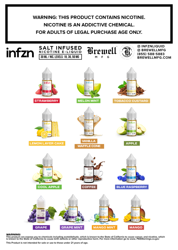 INFZN BOGO Deal Offer - Get 2nd Bottle 50% OFF - 2 BOTTLES - MajorLeagueVapers