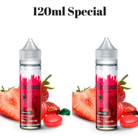 DEAL - Brewell Hard Strawberry #22 Ejuice x 2 Bottle Deal - MajorLeagueVapers