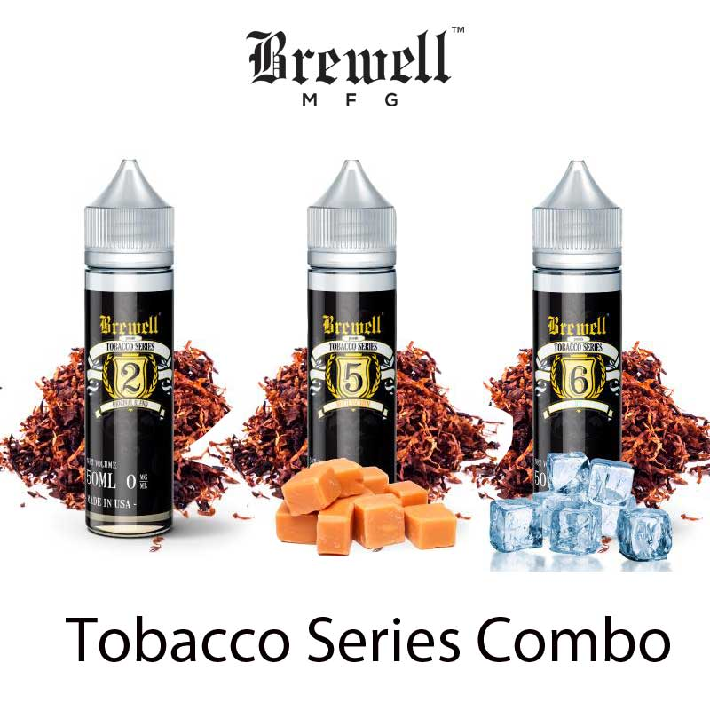 DEAL- Brewell Tobacco Series (1-OG, 1-ICE, 1-BUTTERSCOTCH) - MajorLeagueVapers