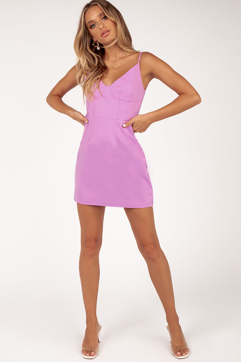 MADISON MINI LILAC DRESS