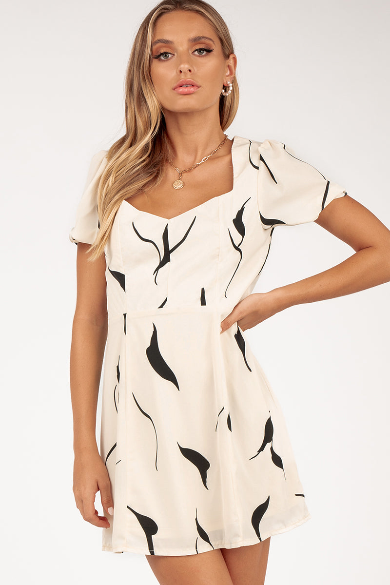 LIGHT MY FIRE CREAM DRESS