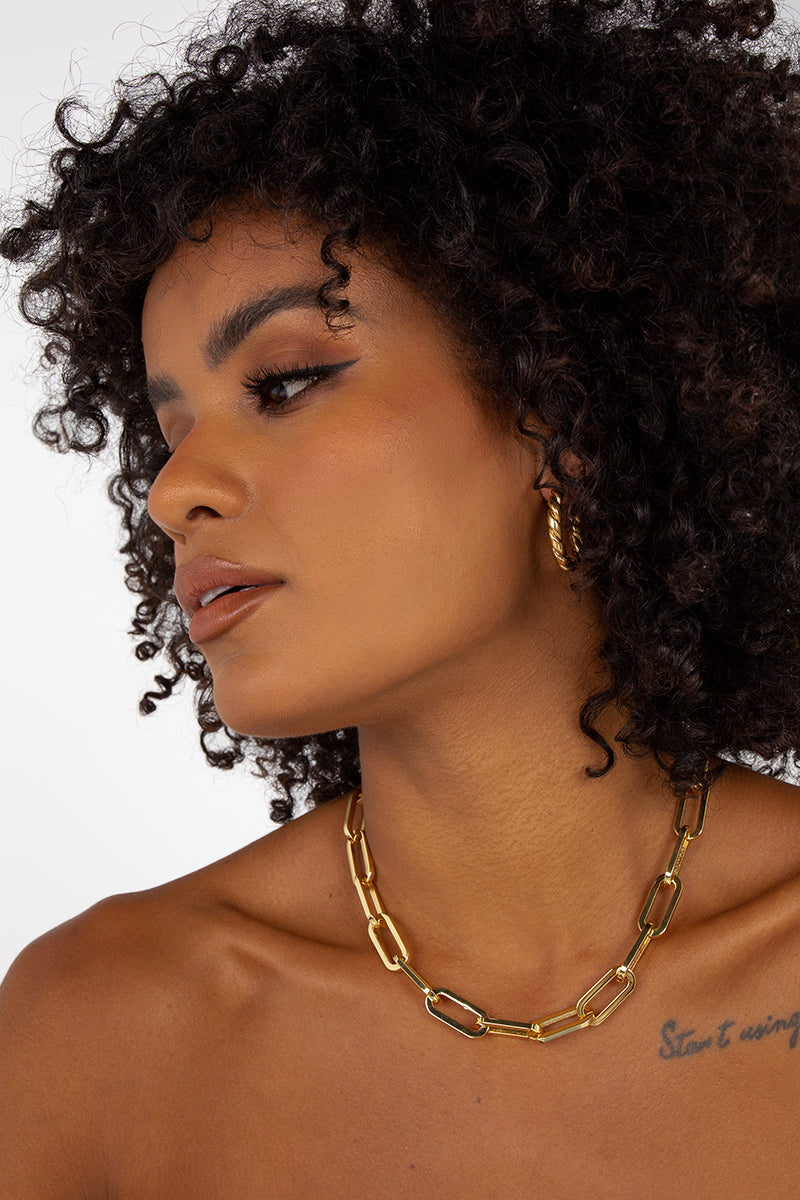 AMBER SCEATS ELLY NECKLACE GOLD