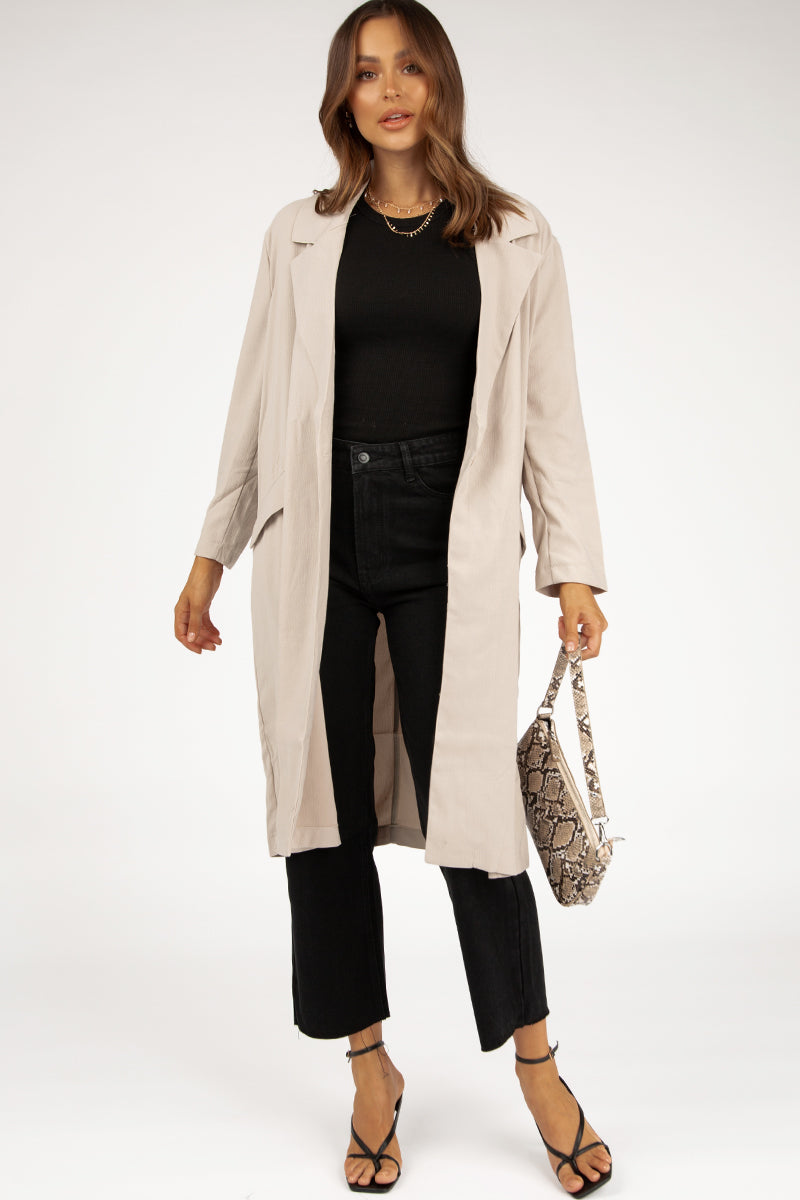 BIANCO LATTE DUSTER COAT