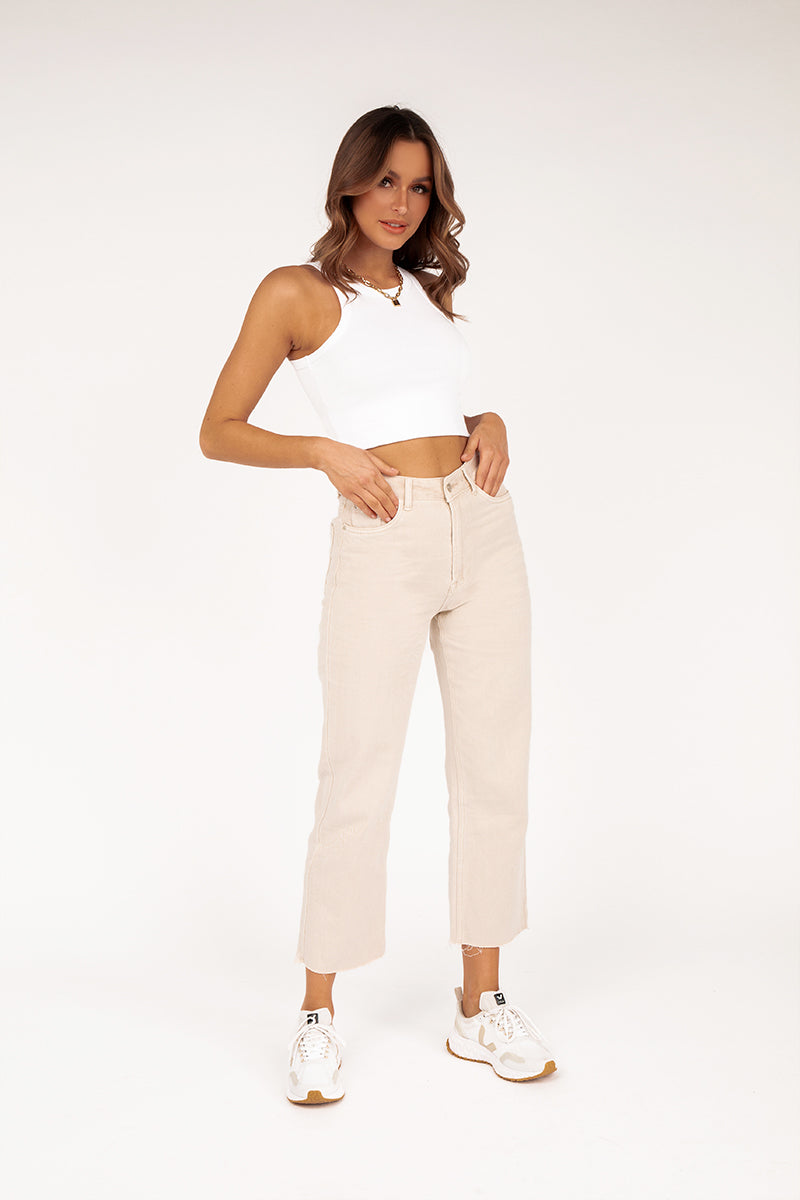 AVERY BONE DENIM CULOTTE JEAN
