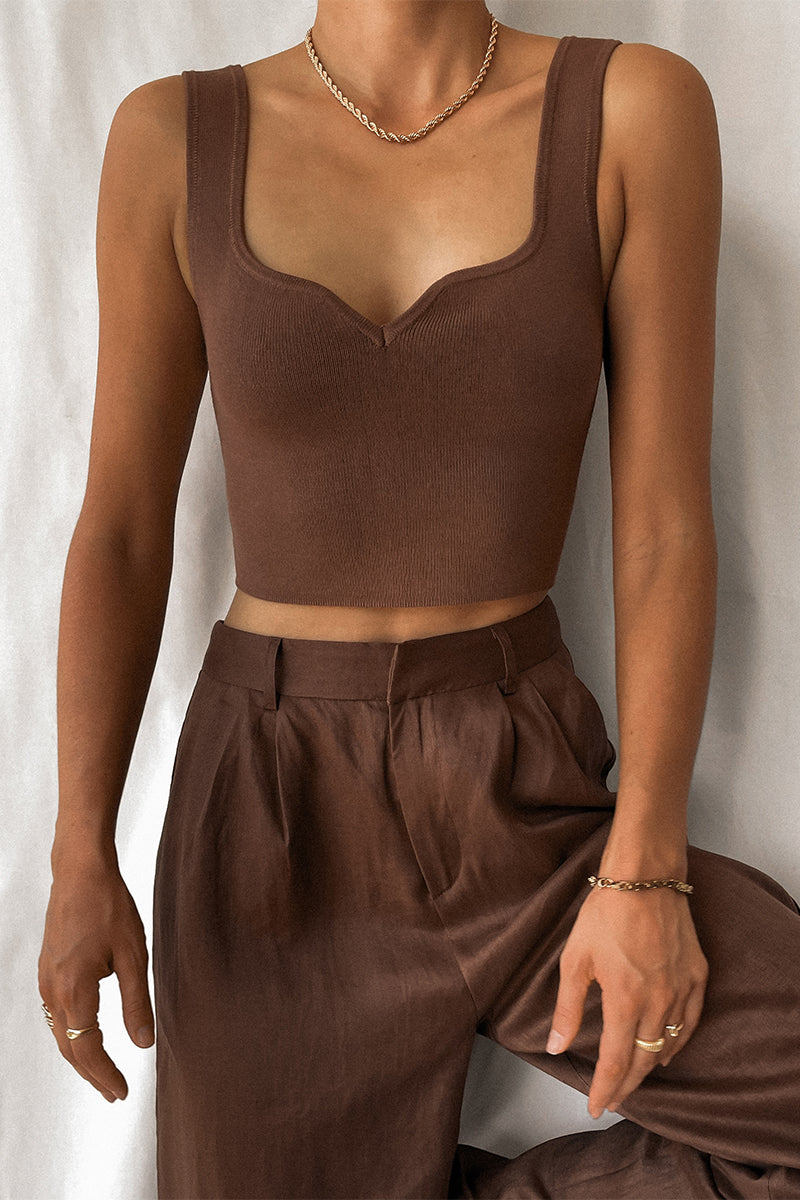 CARTELL CHOCOLATE KNIT TOP