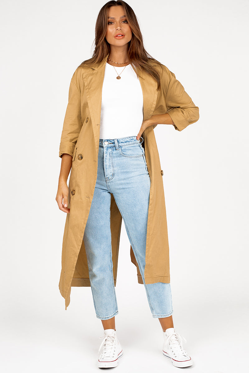 MATTO CAMEL TRENCH COAT