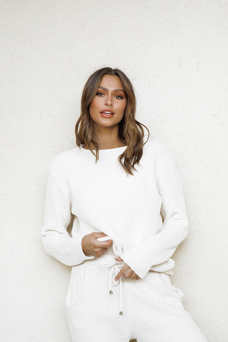 SELINA CREAM KNIT JUMPER