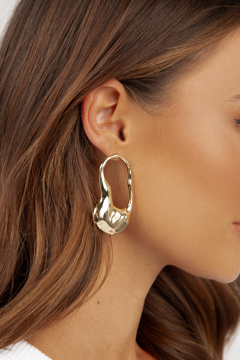 ROMEO GOLD HAMMERED EARRINGS