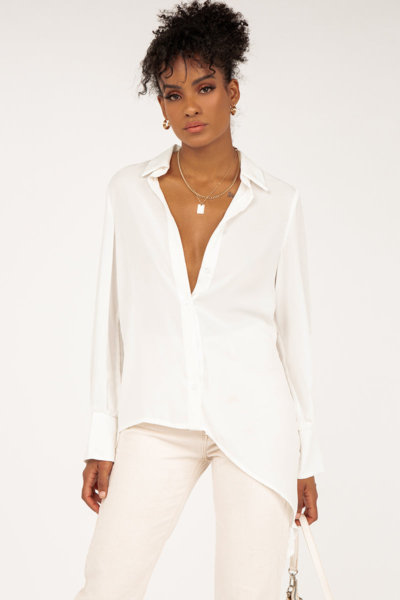MADISON SQUARE ROZA WHITE SHIRT