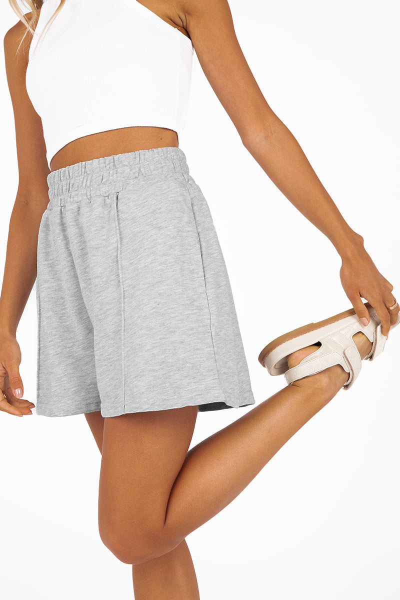 MADISON THE LABEL ELLIOT GREY SHORTS